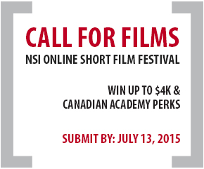 Call for short films: $4K in prizes to be won in the NSI Online Short Film Festival