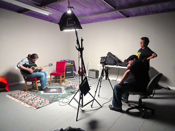 Jackson and Janet at Thru the RedDoor studio during an interview with Logan Staats