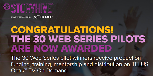 STORYHIVE web series 30 winners announced / Link to STORYHIVE