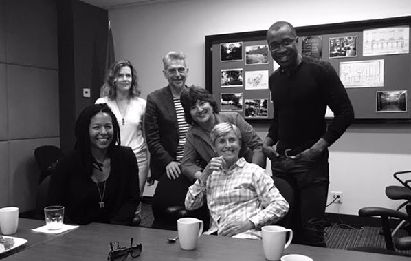 Dawn Wilkinson, Jill Carter, Jerry Cicoritti, Gail Harvey, Stacey Curtis and Clement Virgo