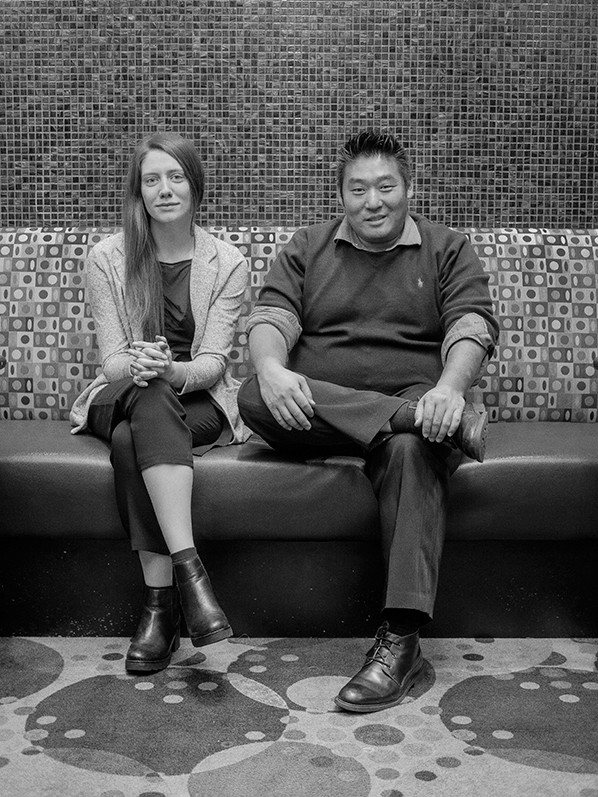 Arnold Lim (right), Susie Winters (left)