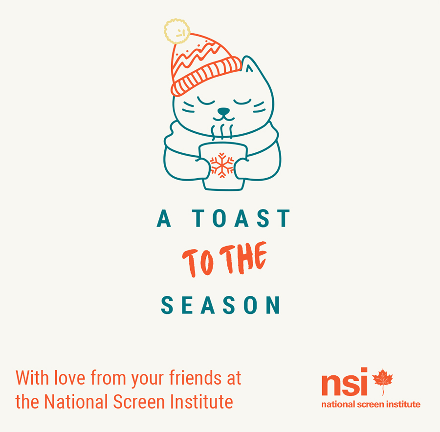 A toast to the season - Wishing you hope and joy for 2021 from everyone at the National Screen Institute
